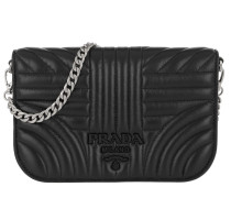 Umhängetasche Quilted Diagramme Nappa Leather Bag Black schwarz