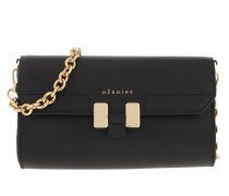Umhängetasche Amal Handle Bag Black/Black/Gold
