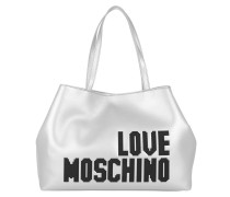 Logo Shopping Bag Soft Argento