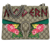 Dionysus Embroidered Shoulder Bag Beige Tasche grün
