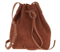Beuteltasche Mini Bucket Bag Suede Rust braun