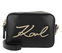 K/Signature Camerabag Black/Gold Tasche