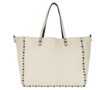 Guitar Rockstud Rolling Double Tote Black/White Shopper