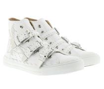 Kyle Buckled Hi-Top Sneakers White Sneakers