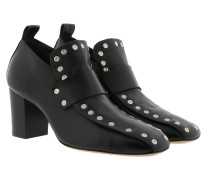 Metal Detailed Slip On Pumps Black Pumps