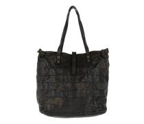 Patchwork Shopping Bag Grigio Shopper braun