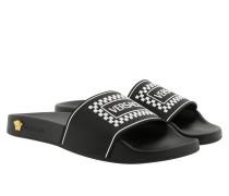 Sandalen Vintage Logo Thong Sandals Black/White/Gold-Tribute schwarz