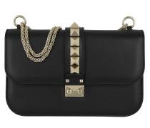 Rockstud Medium Shoulder Bag Black