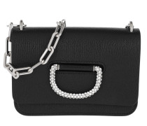 Umhängetasche The Mini Crystal D-Ring Bag Leather Black schwarz