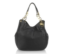 Fulton LG Shoulder Tote Black Hobo Bag