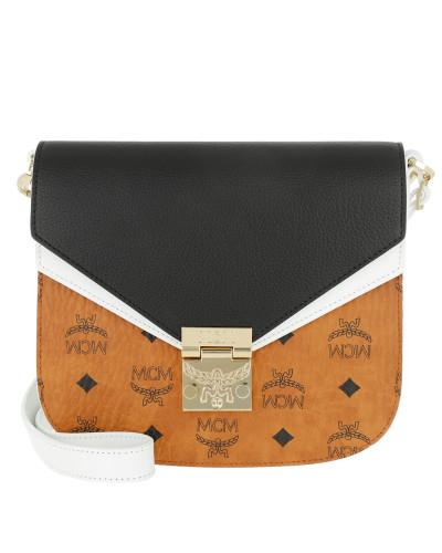 Patricia Visetos Leather Block Shoulder Small Cognac/Black Tasche