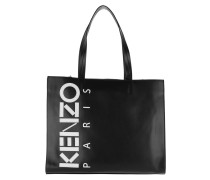 Calfskin Small Shopping Bag Black Shopper