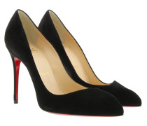 Decollete Alto Corneille 100 Suede Black Pumps