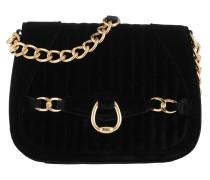 Quilted Velvet Crossbody Medium Black Tasche