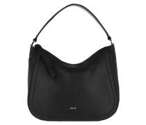 Hobo Bag Calf Adria Hobo Bag Black/Nickel schwarz