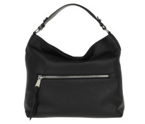 Hobo Bag Adria Hobo Bag Black/Nickel schwarz