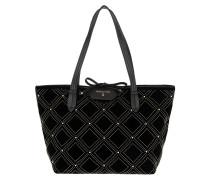 Quilted Shopping Bag New Velvet Black Tote