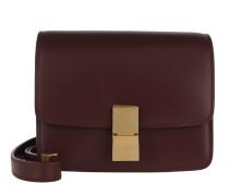 Small Box Bag Calfskin Burgundy Tasche
