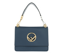 Kan I F Bag Medium Blu Scuro/Oro Soft Satchel Bag