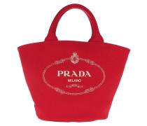 Tote Logo Fabric Handbag Red rot