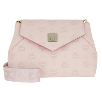 Satchel Bag Essential Monogrammed Leather Crossbody Small Lotus rosa