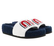 Schuhe Towel Logo Cotton Slides Sandals Bianco weiß