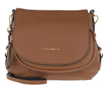 Janine Shoulder Bag Grained Leather Brule Tasche