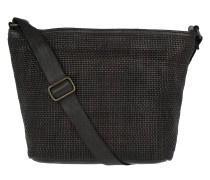 Shoulder Bag Thin Woven Grigio Shopper braun