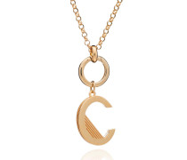 Halskette Oversized Alphabet C Pendant Necklace Yellow Gold