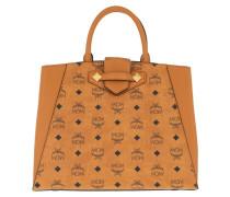 Tote Essential Visetos Bag Medium Cognac