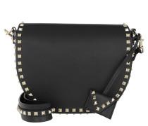 Rockstud Crossbody Bag Small Leather Black Tasche
