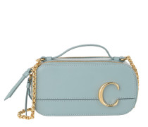 Umhängetasche C Vanity Mini Crossbody Bag Smooth Leather Faded Blue
