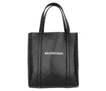 Tote Small Bazar Shopper Leather Black/Gold schwarz