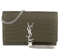 Kate Monogramme Chain Clutch Kaki Tasche