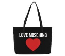 Shopper Heart Logo Shopping Bag Nero schwarz