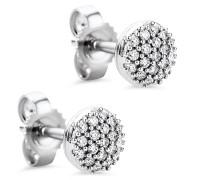 Ohrringe 0.15ct Diamond Stud Earring 18KT White Gold