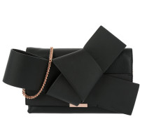 Asterr Giant Knot Bow Clutch Bag Black