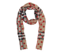 Pashmina Check Dots Scharf Military Red Accessoire rot