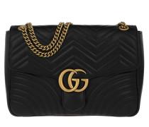 GG Marmont Large Shoulder Bag Leather Black Tasche