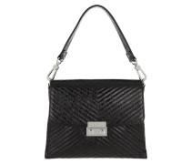 Satchel Bag Shoulder Bag Black/Nickel schwarz