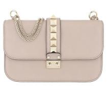 Rockstud Lock Shoulder Bag Medium Poudre