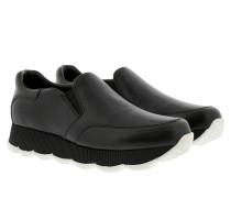 Slip On Sneaker Leather Black Sneakers