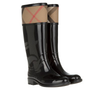 Rainboots Crosshill Housecheck Check Knee High Black Schuhe