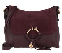 Hobo Bag Joan Grained Shoulder Bag Leather Burgundy rot