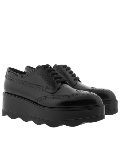 Classic Laced Up Loafers Leather Black Schuhe