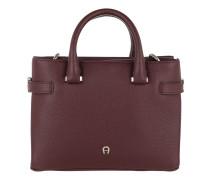 Roma Handle Bag Small Burgundy Tote