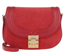 Trisha Suede Small Shoulder Bag Red