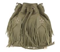 Bucket Bag Fringes Stars Daily Green Beuteltasche
