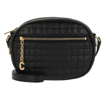 Umhängetasche C Charm Bag Small Quilted Leather Black schwarz