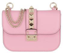 Rockstud Lock Shoulder Bag Small Leather Absolute Rose Tasche